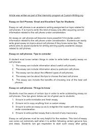 Persuasive Essay Examples For 6th Grade Mobile Phone Essay Essays Mobile Phones Persuasive Essay Topics