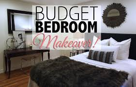 Home Decore Com by Budget Bedroom Makeover Home Decor Youtube