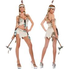Native Indian Halloween Costumes Native American Indian Princess Suede Top Mini Skirt