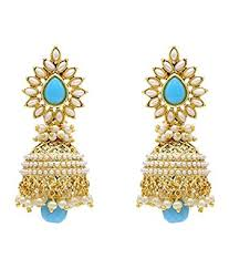 buy jhumka earrings online buy youbella jewellery gold plated pearl fancy party wear jhumka