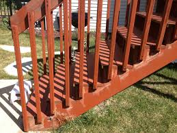 Wooden Banister Rails Deck Stairs And Railing Movement Internachi Inspection Forum