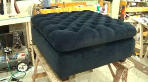how to upholster a storage ottoman alo upholstery youtube