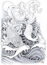 golden carp tattoo by koggg on deviantart