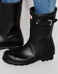 2017 hunter men black short wellies footwear 57 14