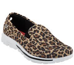skechers gowalk slip on mesh sneakers dazzle page 1 u2014 qvc com