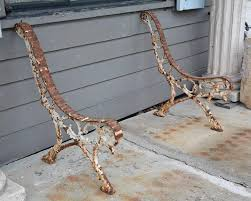 Bench Supports Antique French Cast Iron Garden Bench Supports For Sale At 1stdibs