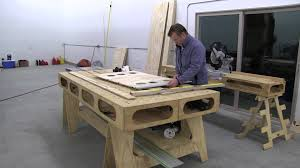 portable track saw table building the paulk workbench part 2 making saw horse pattern