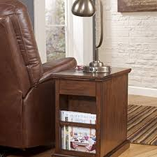 Side Table With Built In Lamp Transitional Side Tables Living Room Contemporary With Metal Chair