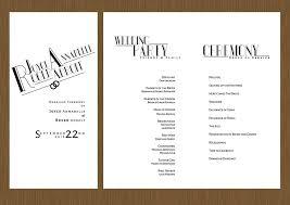 modern wedding programs bauru wedding program detail wedding design