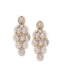 diamond chandelier earrings pomellato arabesque diamond chandelier earrings in 18k gold