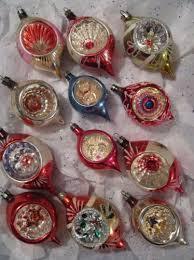 12 vtg indent teardrop spiked poland christmas ornament lot