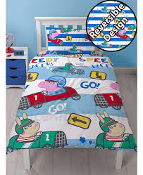 Peppa Pig Toddler Duvet Cover Peppa Pig George Speed Single Duvet Cover And Pillowcase Set Bedroom