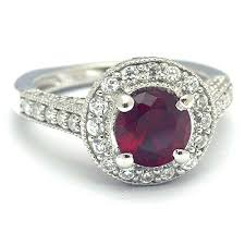 ruby red rings images Red ruby and diamond cubic zirconia engagement ring jpg