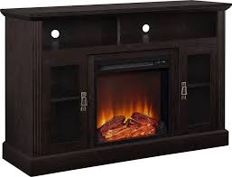 Flame Decorations Awesome Espresso Tv Stand With Fireplace Tv Console With Realistic