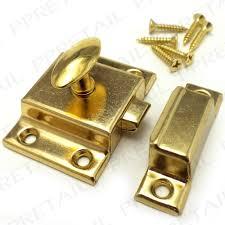 Cabinet Door Locks Latches Brass Sprung Cupboard Turn Latch With Screws Desk Cabinet Door
