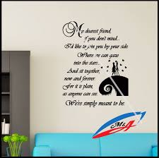 wall art stickers decors quotes and phrases sally and jack the wall art stickers decors quotes and phrases sally and jack the nightmare before christmas t17 wall art stickers