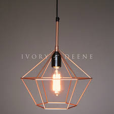 Wire Pendant Light Pendant Light Copper Tone Pendant Lighting Lights And