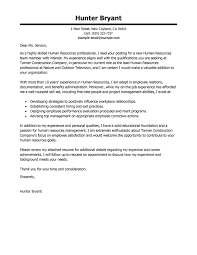 Cover Letter Examples Resume by Best Human Resources Cover Letter Samples Livecareer