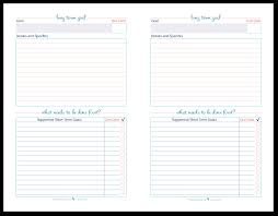 half size long term goal setting worksheets scattered squirrel