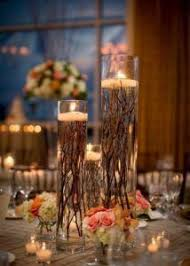 lighted centerpieces for wedding reception flowers and lighted branches wedding centerpiece lighted branches