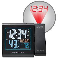Clock That Shines Time On Ceiling by La Crosse Technology Projection 5