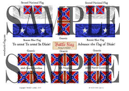 Confederate Flag Sheets Battle Flag Release American Civil War Confederate Flags In 54mm