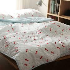 Comfortable Bed Sets 100 Cotton Goldfish Print Comfortable Bedding Set Bed Clothes 4pcs