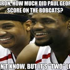 Paul George Memes - paul george two points vs bobcats by nikeface28 meme center