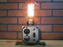 industrial table lamp plug charging station id lights