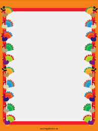 turkey columns thanksgiving border png
