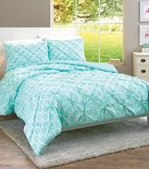 Walmart Goose Down Comforter Aqua Looped Trellis Pintuck Bedding Comforter Set From Better