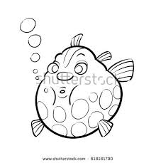 childrens coloring page sea creatures trace stock vector 618181691