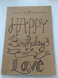 free birthday cards for her happy birthday card for my boyfriend handwriting pinterest