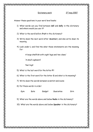 dictionary work by lilmiss teaching resources tes