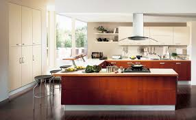 Cutting Board Kitchen Island Contemporary Kitchen Island Range Hood Wall Cabinet Drawer Frying