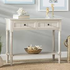 robinwood 3 drawer console table vintage grey console table wayfair