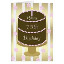 75th birthday cards u0026 invitations zazzle co uk