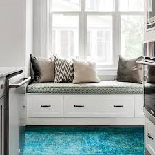 Built In Window Bench Seat Gray Built In Window Seat Design Ideas