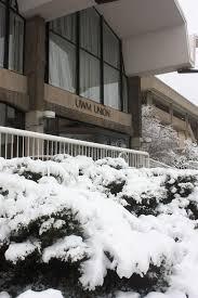 uw milwaukee student union entrance in winter milwaukee editorial