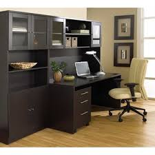 Espresso Desk With Hutch Computer Home Office Sets Luxedecor