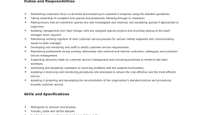 customer service executive description resume 28 images resume