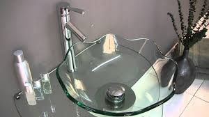 fresca netto modern glass bathroom vanity w wavy edge vessel sink