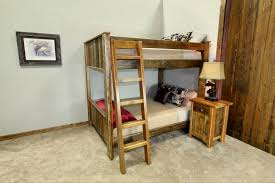 Barnwood Bunk Beds Vertical Plank Bunk Bed