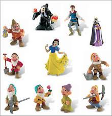 Official Bullyland Disney Snow White Figures Figurines Toys Cake