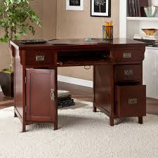 Bush Computer Desk With Hutch by Bush Furniture Salinas Mission Desk Hutch Walmart Throughout