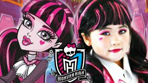 monster high halloween dolls kids draculaura monster high doll costume makeup inspire look