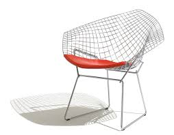 Knoll Rocking Chair Bertoia Small Diamond Chair With Seat Cushion Hivemodern Com