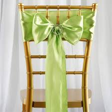 chair bows 5 pcs apple green satin chair sashes tie bows catering wedding