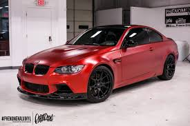 red bmw bmw m3 in satin candy red phenomenalvinyl