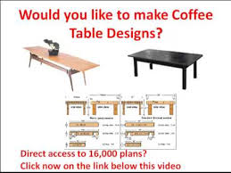 free coffee table plans would you like to make coffee table
